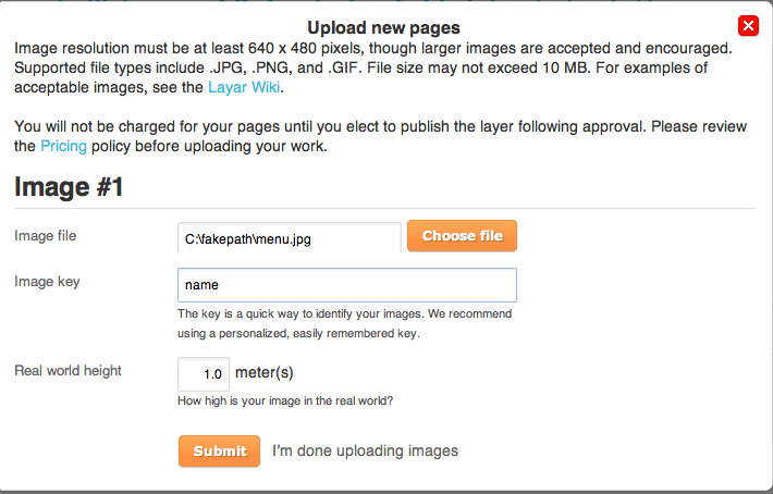 upload pages